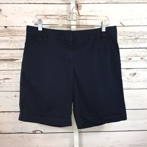 J.Crew  City Fit Navy Blue Chino Shorts Size 8
